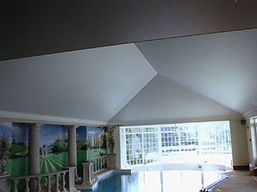 Vaulted roof stretch ceilings swimming pools
