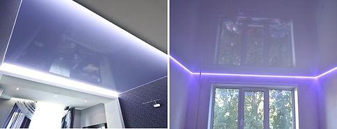 purple stretch ceiling design