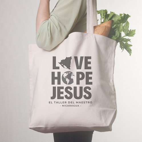 LOVE HOPE JESUS TOTE BAG