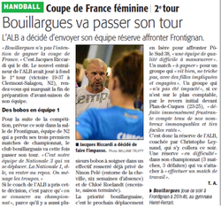 Annonce de la Coupe de France