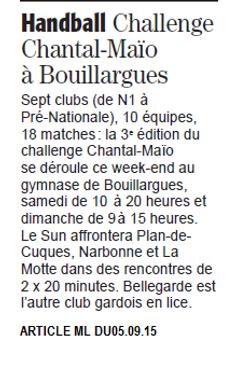 Challenge Chantal Maïo 2015