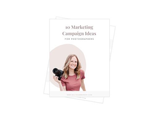 10 Marketing Ideas for Photographers