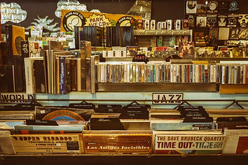 Vintage Records in a store
