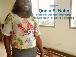 Meet One Moore Bookstore's new teacher/tutor Queta S. Nahn!