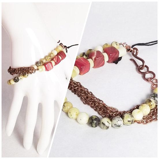 Double Layer Jadite Bracelet