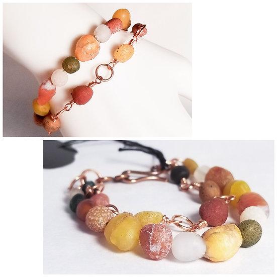 Gobi Agate Double Layer Bracelet