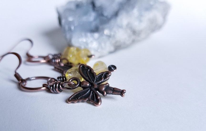 Citrine Fairy Earrings