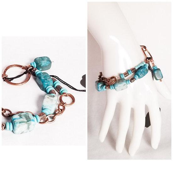 Turquoise Jasper Double Layer Bracelet