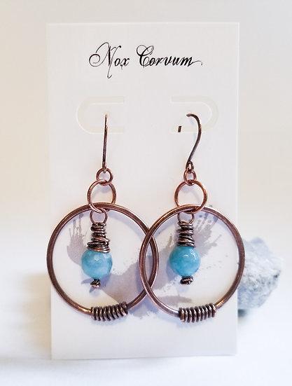 Aquamarine Acrobat Earrings