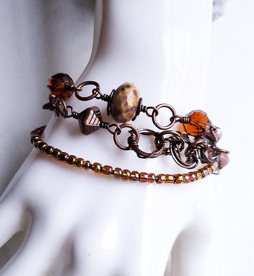 Amber Layer Bracelet