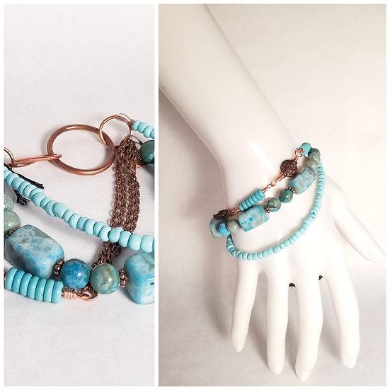 Turquoise Triple Layer Bracelet