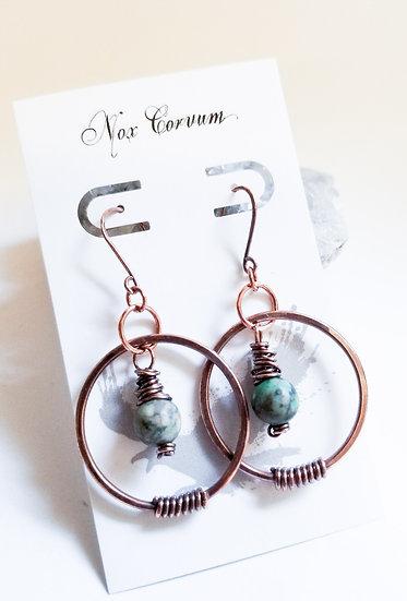 African Turquoise Acrobat Earrings