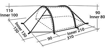 Палатка Easy Camp, 2-местная, цв.зеленый