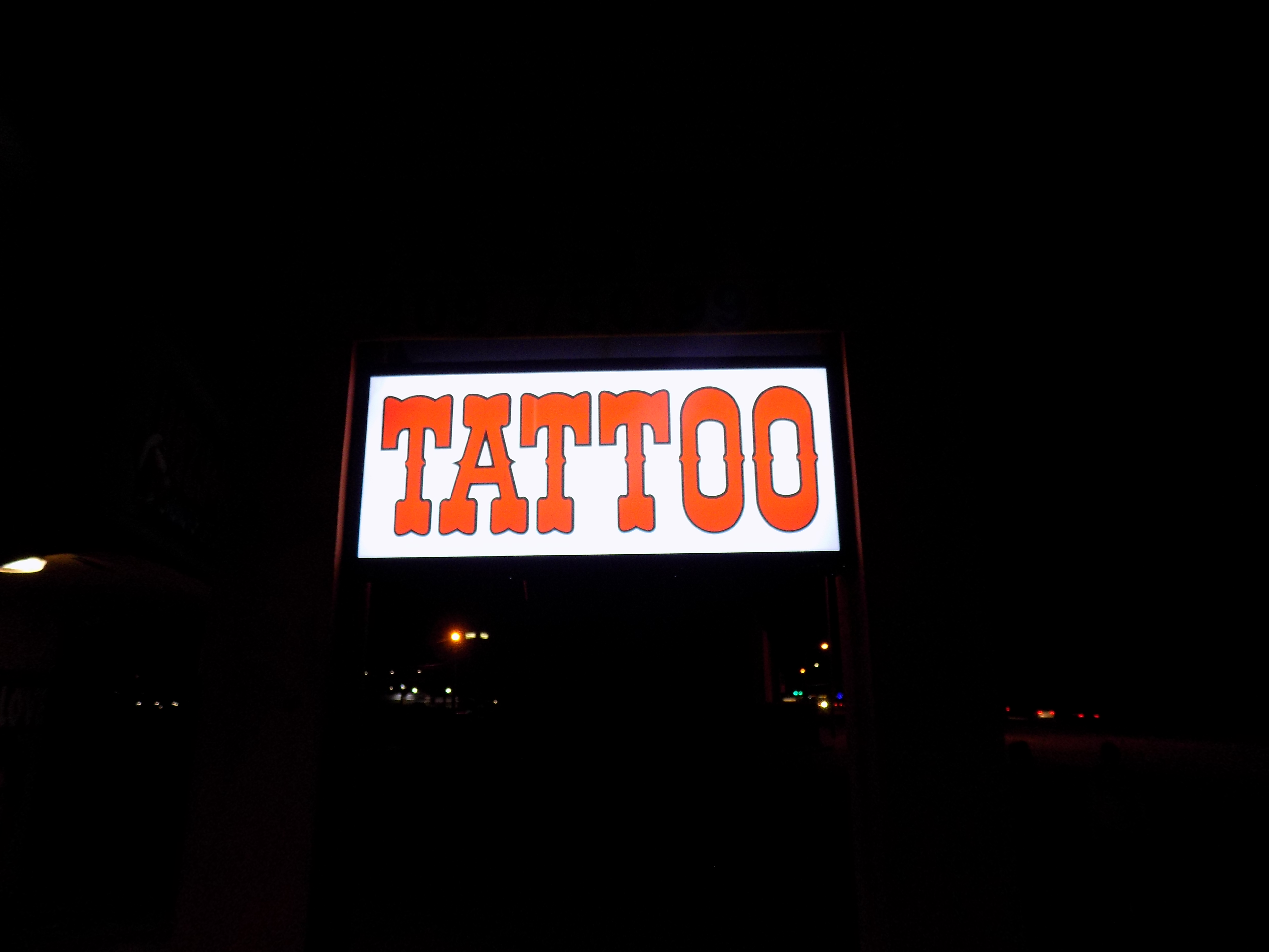New Lit up sign