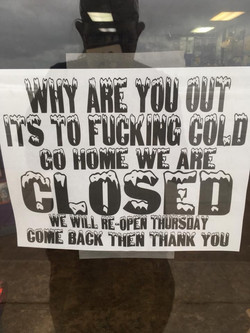 So Cold No one was out