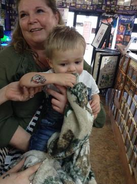 Baby 1st Tattoo Shop Trip