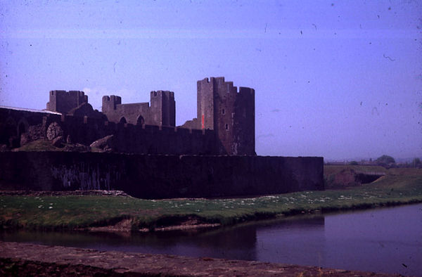 Caerphilly castle from the west.