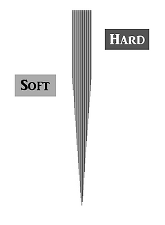Case-hardend knife cross section, unsharpened.