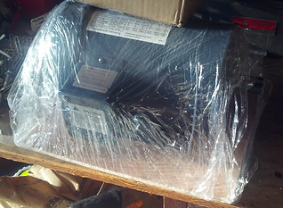 The motor, as shipped within its box.