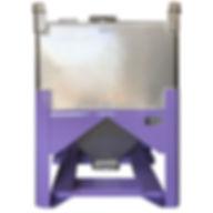 Stelfab Hopper Bin dry material cannabis container chute