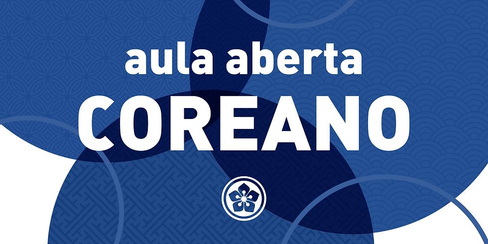 2021 - AULA ABERTA DE COREANO