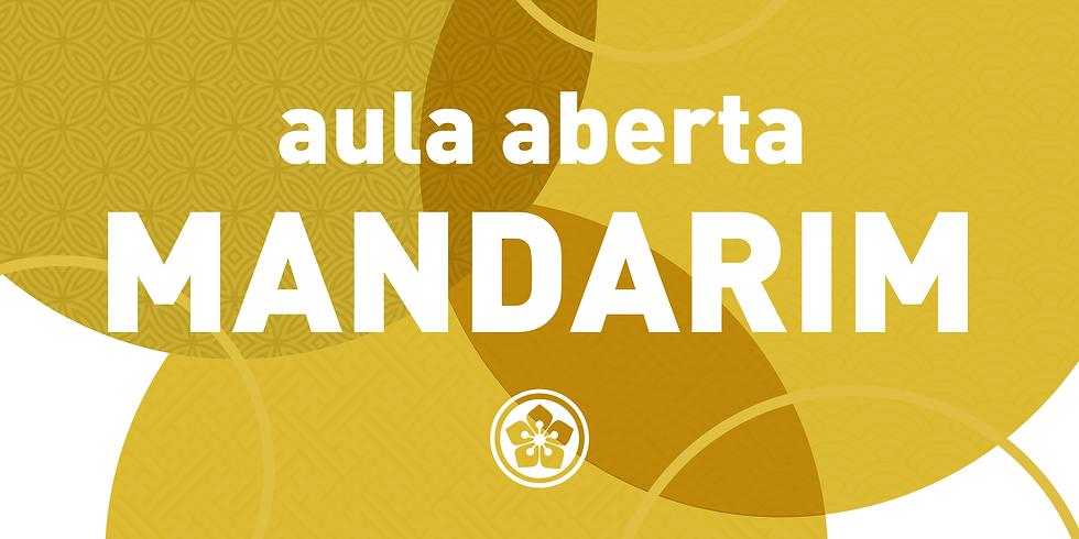 2021 - AULA ABERTA DE MANDARIM