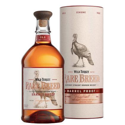 Whisky Kentuky Steaight bourbon Wild Turkey Rare breed cl 70 astucciato