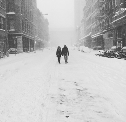 love and snow in NYC