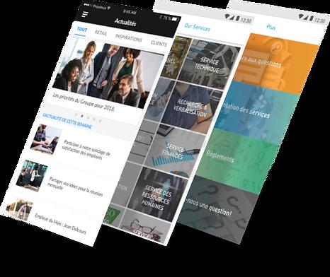 Internal communication personalized App by Symantra