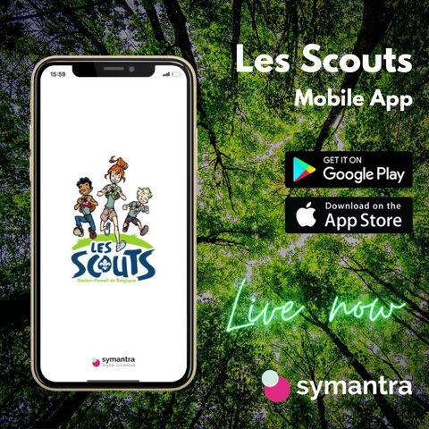 Les Scouts ont choisi Symantra pour réaliser l'application mobile pour les  12.700 animateurs