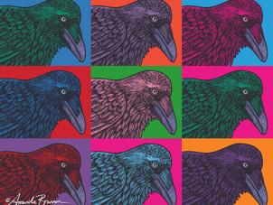 Warhol Raven — Corvid of Many Colors
