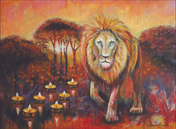 ©web sample Lion with Lamps