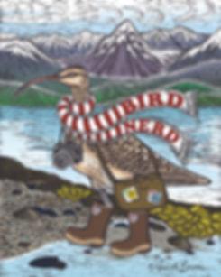 Nature Art. Original clay board engraving ©Amanda Brannon. Bristle-thigh Curlew. Bird Nerd.