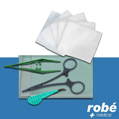 Sets de pose de sutures avec champ de soins