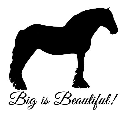 Clydesdale, shire horse decal sticker front view