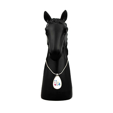 Spirit horse necklace front view
