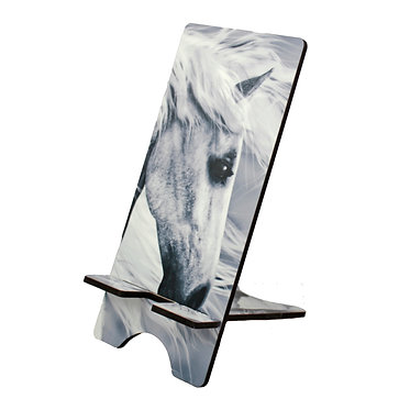 Horse mobile phone stand horse pattern image front side view