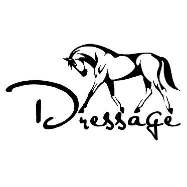 Dressage vinyl decal sticker for car, trailer, horse float and 4WD front view