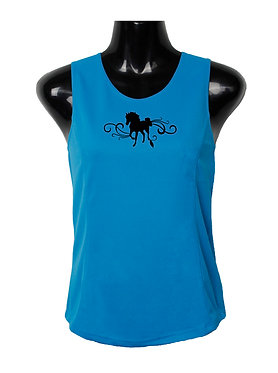 HORSE SINGLET TOP HORSE WITH SCROLLS