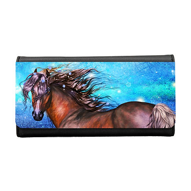 Ladies/girls purse wallet magical horse image front view