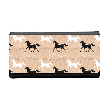 Ladies/girls purse wallet running horse pattern image front view