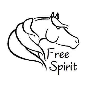 Vinyl decal sticker for horse float free spirit horse in black front view