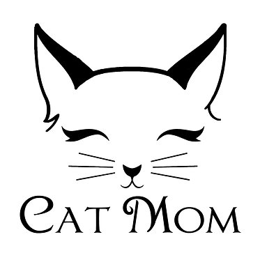 Cat vinyl decal sticker cat mom front view