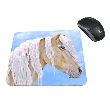 Neoprene computer mouse pad beautiful palomino horse image front view