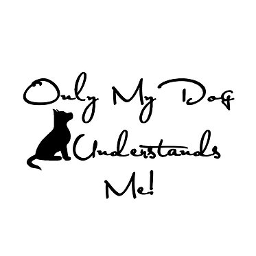 Dog vinyl decal sticker in black for car front view