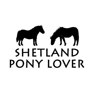 Shetland pony lover decal sticker in black front view