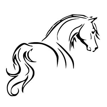 Horse vinyl decal sticker horse looking away for horse float front view