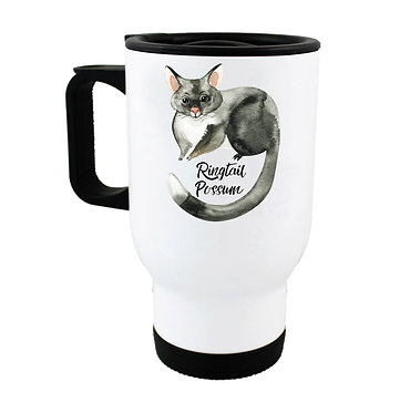 Travel mug with Australian Ringtail Possum image front view