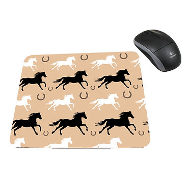 Neoprene computer mouse pad horse pattern image front view