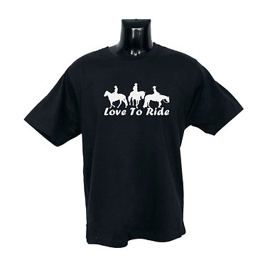 Black White Image Horse T-shirt Front View